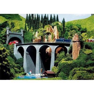 222593 Faller Viaduct, dubbelspoor