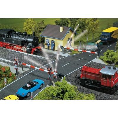 120171 Faller Spoorwegovergang met spoorbomen