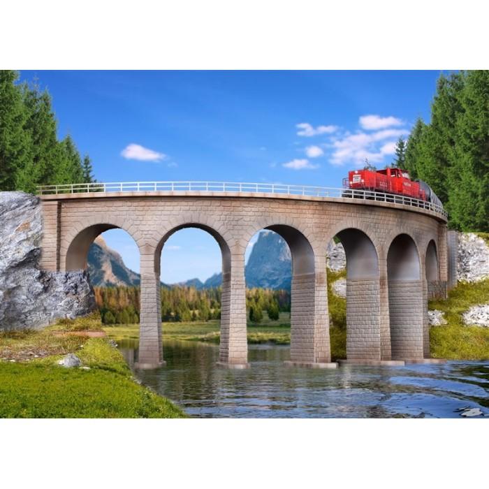 37664 Kibri Gebogen enkelsporig stenen viaduct