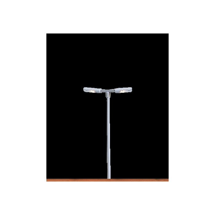 84059 Brawa Perronlantaarn, 2-armig, aansluiting pin-verlichting (LED)