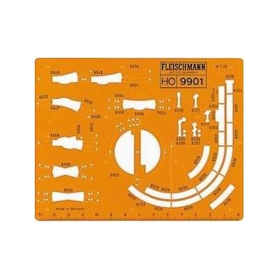 9901 Fleischmann Railplan-tekensjabloon HO Modelrail