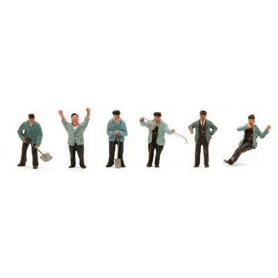 10.306 Artitec 6x Personeel stoomtijdperk