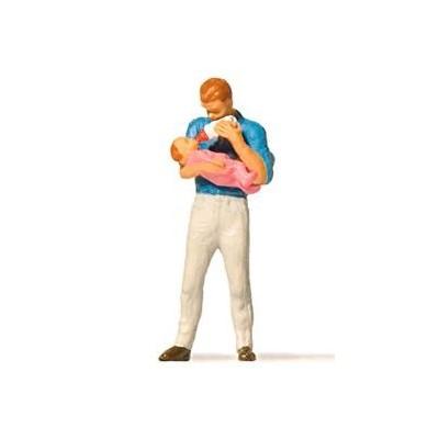 28177 Preiser Vader met baby