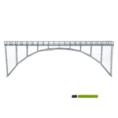 HN32 Hack Brücken Hogebogenbrug metaal grijs enkelsporig