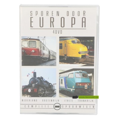 DVD Sporen door Europa - 4 dvd Box