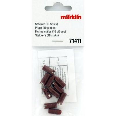 71411 Märklin Steker Bruin 10 stuks