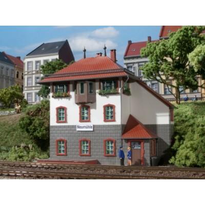 11332 Auhagen Locomotiefloods dubbel spoor