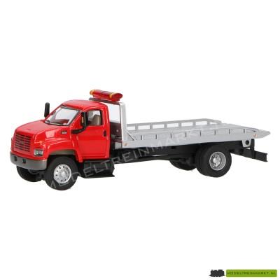 21821-4 Schuco Vrachtwagen met auto oplegger