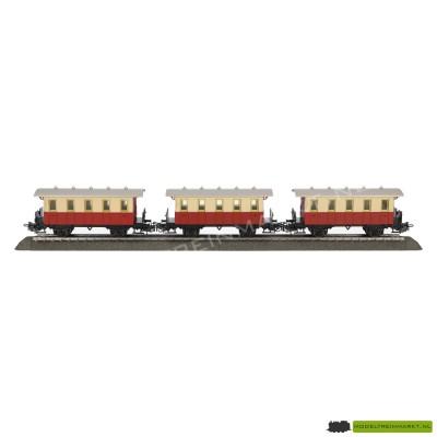 Marklin set van 3 Personenwagons rood/wit uit startset