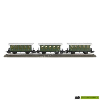 Marklin set van 3 Personenwagons groen uit startset