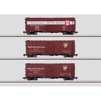 45650 Märklin Set 3 gesloten goederenwagens PRR