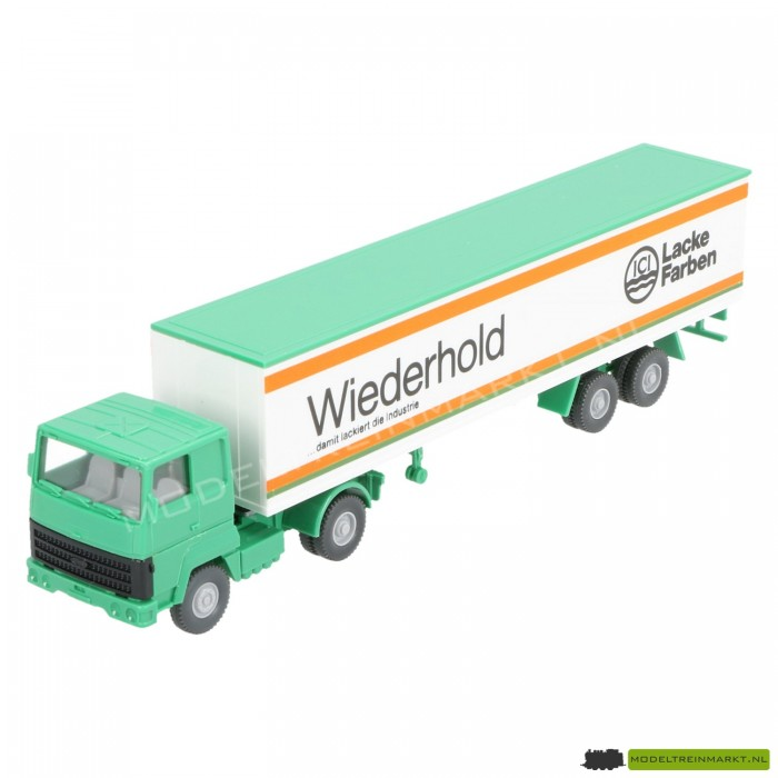 """24540 Wiking Vrachtwagen met """"Wiederhold Lacke Farben"""" Oplegger"""