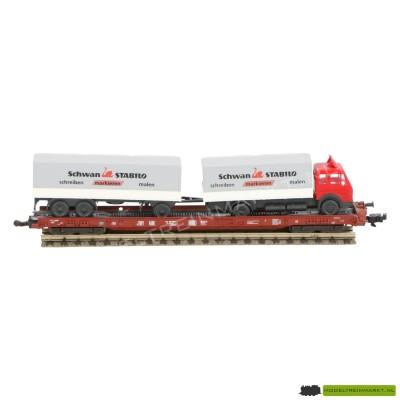 8246K Fleischmann Platte goederenwagen met vrachtwagen
