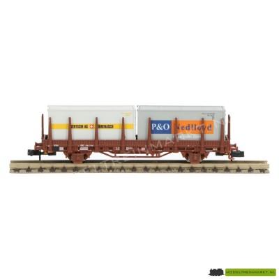 """H23005-5 Hobbytrain Rongenwagen met """"Bertsch AG"""" en """"P&O Nedloyd"""" containers"""