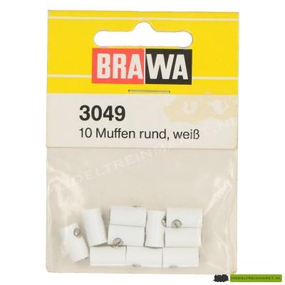 3049 Brawa witte kabelmoffen