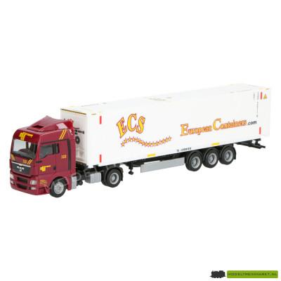 1822 Herpa MAN TGX ECS European Containers.com