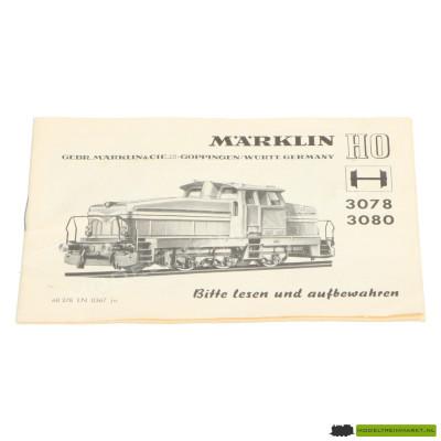3078/3080 Märklin Locomotief Handleiding