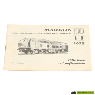 3075 Märklin Locomotief Handleiding