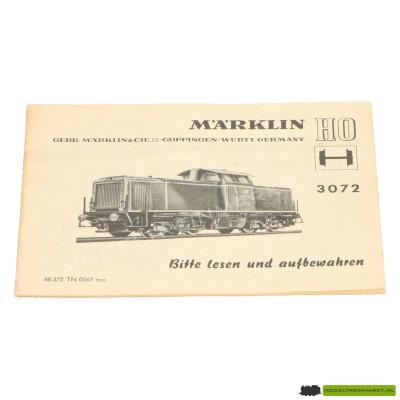 3072 Märklin Locomotief Handleiding