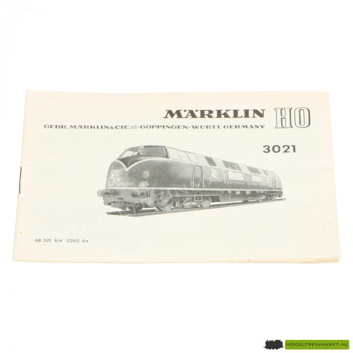 3021 Märklin Locomotief Handleiding