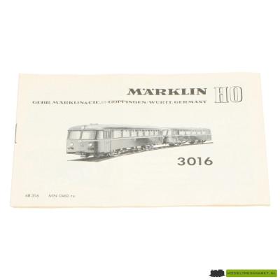 3016 Märklin Locomotief Handleiding