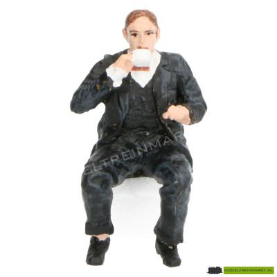 400149A KM-1 Kaffee Klaus, zwart pak