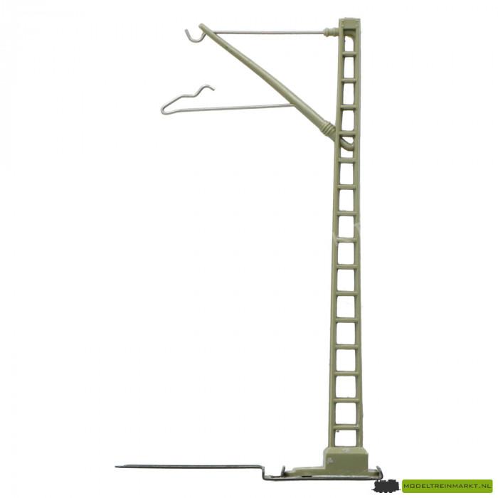 74100 Bovenleiding mast 100 mm met C-rails voet