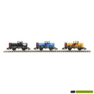 15141 Minitrix - Ketelwagenset van 3 (Shell/Gastrol/B.v. Aral) DR