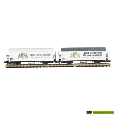 0232 Arnold - Set van 2 koelwagens - 'Mineral wasser' DB - BR 806