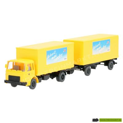 25 551 Wiking Post Vrachtwagen met aanhanger