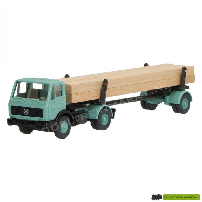 390 Wiking MB Vrachtwagen met belading