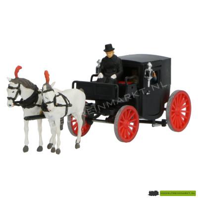452 Preiser paarden met koets