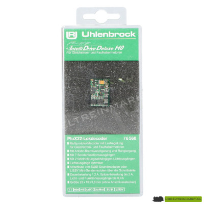 76560 Uhlenbrock IntelliDrive Deluxe H0-Decoder PluX22