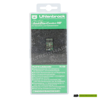 76150 Uhlenbrock IntelliDrive Comfort H0-Decoder PLUX16