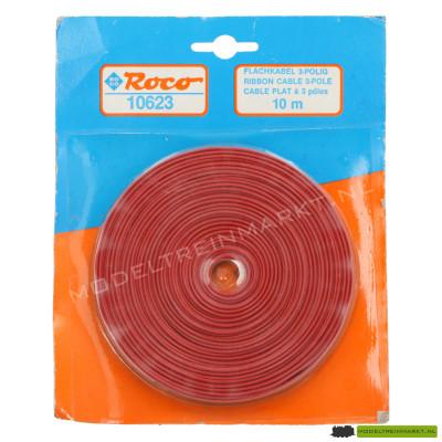 10623 Roco 3-polige platte kabel, 10 meter