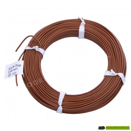 LivY-Toy Koperdraad 0,50 mm² 40 m Bruin