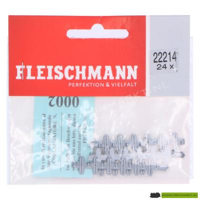 22214 Fleischmann Geïsoleerde raillassen 24 stuks