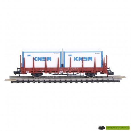 """825734 Fleischmann Rongenwagen met 2 containers """"KNSM"""" NS"""