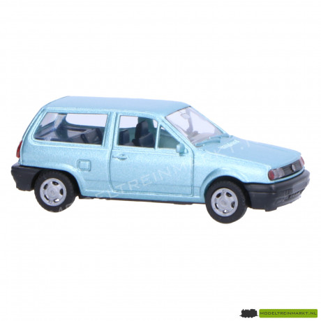 0049 AWM Automodelle Volkswagen Polo Fox blauw
