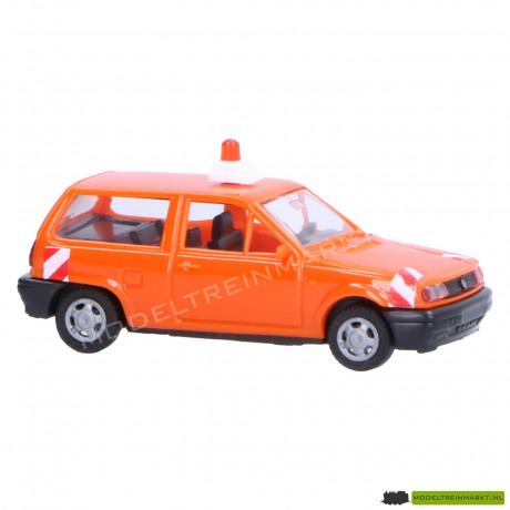 0043.1 AWM Automodelle Volkswagen Polo Fox oranje wegwerkzaamheden