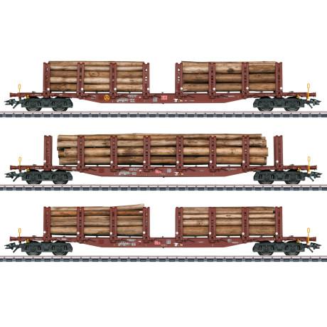 47146 Märklin Set rongenwagens houtvervoer DB AG