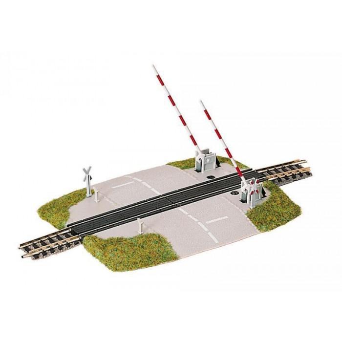 9198 Fleischmann N Piccolo beveiligde spoorwegovergang