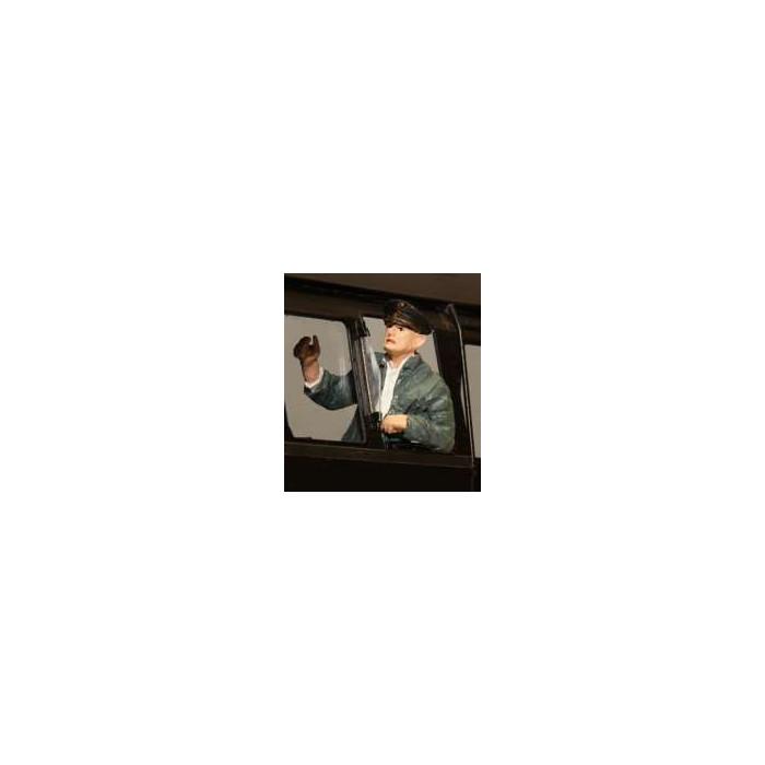 400146A KM-1 Heizer Herbert, zwarte jas