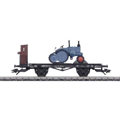 46064 Märklin Platte wagen met tractor