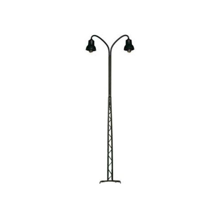117252 Dubbele Vakwerklamp zwart