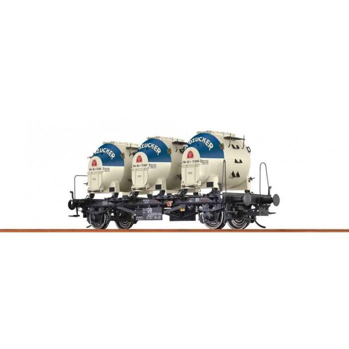 37156 Brawa Containerdraagwagen 'Südzucker' DB