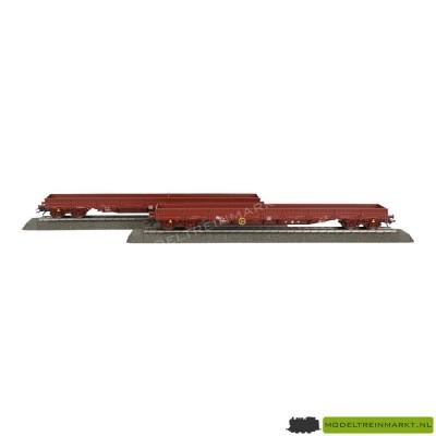 47011 Märklin Set met 2 lageboordwagens NMBS