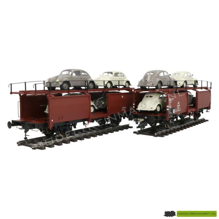 2029 Hübner Autotransporter 2-teilig mit 10 Stück standard-Brezel-Käfern